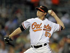 Zach Britton allowed just one run in six innings to the Red Sox and he became the first Orioles rookie starter to win four games in April. Baltimore beat Boston 4-1 on Tuesday.