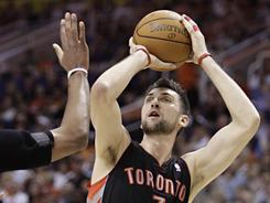 The Raptors' Andrea Bargnani of Italy is one of the NBA players expected to compete in Olympic qualifying tournaments this summer.
