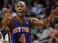 The New York Knicks on Wednesday picked up the option year of guard Chauncey Billups. )