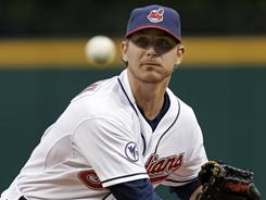 Starter Josh Tomlin allowed two runs in six innings in the Indians' 7-2 win over the Royals Wednesday. Tomlin is now 4-0 and his ERA stands at 2.45.