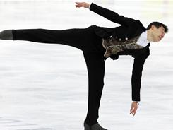 Patrick Chan of Canada skates in the men's free skate during the 2011 World Figure Skating Championships at Megasport Ice Rink on April 28 in Moscow.