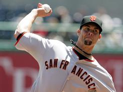 Giants' Ryan Vogelsong started his first game since 2004.