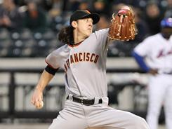 Tim Lincecum struck out 12 in seven shutout innings, the 29th time in his career he's had double-digit strikeouts.
