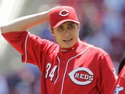 Reds starter Homer Bailey struck out seven batters in six innings of work.