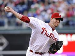 Roy Halladay struck out 10 in seven innings as the Phillies cruised to a 7-3 win vs. the Nationals.