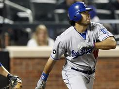 Andre Ethier is one game shy of tying the Dodgers franchise record for longest hitting streak.