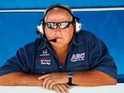 Racing superstar and Indy 500 legend A.J. Foyt watched practice at Texas Motor Speedway last June. This year, he'll pilot the pace car for the Indianapolis 500, replacing TV host and real estate titan Donald Trump.