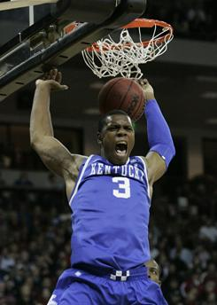 Kentucky freshman Terrence Jones dunks during a Jan. 22 game against South Carolina in Columbia, S.C.