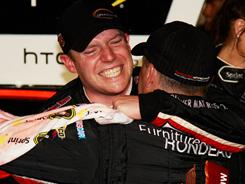 Regan Smith's emotions poured out after his first Sprint Cup victory.