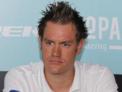 In this file photo taken April 1, Belgium's Wouter Weylandt speaks at a new conference in Kortrijk, ahead of the 95th Ronde Van Vlaanderen. Weylandt was pronounced dead on May 9 following a horrific crash on the third stage of the Giro d'Italia.