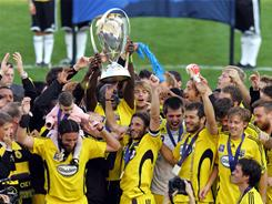 The Columbus Crew won the MLS Cup in 2008, the last time the final was played at The Home Depot Center.