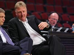 Indiana Pacers president Larry Bird, seen here in April, will return to the team next season. The Pacers made their first playoff appearance since 2006 in 2011.