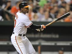 Adam Jones' two-run triple in the fifth inning was the key hit in the Orioles' 4-2 win against the Mariners.