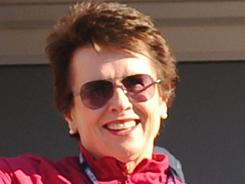"""It's good to get it out in the open,"" says tennis legend Billie Jean King. ""What's happened the past month will make people more aware that they are hurting others with their words."""