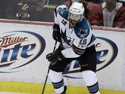 Patrick Marleau, still looking for his first point of the series, and the Sharks will try to close out the Red Wings at home on Thursday night.