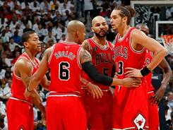 The Chicago Bulls clinched their first berth in the Eastern Conference finals since 1998 with a Game 6 rout of the Atlanta Hawks.