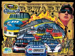 The cover art for the 2011 Sprint Cup All-Star race as designed by longtime NASCAR artist Sam Bass.