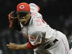 Reds' Aroldis Chapman was placed on the 15-day disabled list Monday.