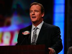 NFL Commissioner Roger Goodell at last month's draft.