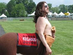 Preakness Stakes mascot Kegasus has been a controversial addition to the Triple Crown race in Baltimore.