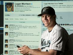 Marlins' Logan Morrison is one of the most prolific tweeters in the majors.