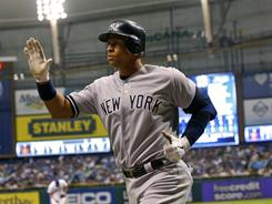 Alex Rodriguez hit two solo home runs in the Yankees' 6-2 win over the Rays on Tuesday. Rodriguez now has 621 career home runs.