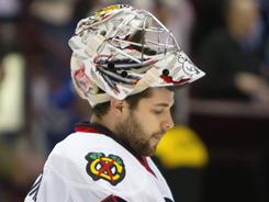 Corey Crawford grabbed the Blackhawks' No. 1 goaltending position during his rookie season.