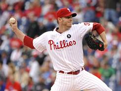 Roy Halladay was his typically efficient self, allowing two runs in eight innings to help the Phillies win for just the second time in seven games.