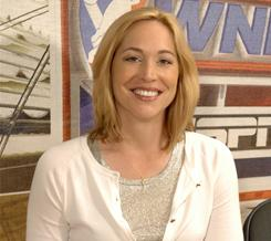 Doris Burke is pictured in 2006 at the WNBA All-Star Game in New York.
