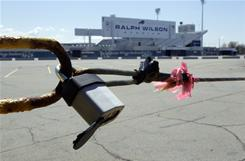 Ralph Wilson Stadium, home of the Buffalo Bills is shown during the lockout in Orchard Park, N.Y.