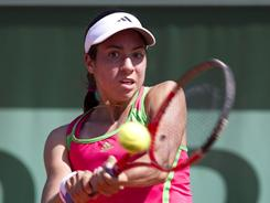 "Christina McHale of the USA lost a big third-set lead and then lost the match to Sara Errani of Italy on Monday at the French Open. ""I panicked,"" she said."