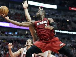 Guard Dwyane Wade is averaging 24.7 points, 7.5 rebounds, 4.5 assists, 1.3 steals and 1.2 blocks in the playoffs and has played relentless defense.