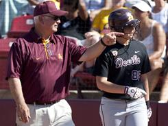 Coach Clint Myers and junior outfielder Annie Lockwood have Arizona State pointed toward another NCAA title.