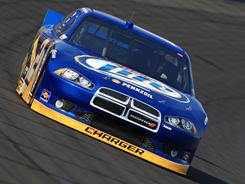 Brad Keselowski drives the No.2 Miller Lite Dodge to the pole for Sunday's Coca-Cola 600.