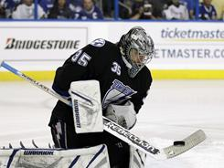 Lightning goalie Dwayne Roloson reached the 2006 Stanley Cup Final with the Oilers but was hurt in Game 1.