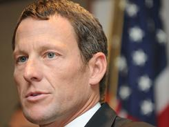 Seven-time Tour de France winner Lance Armstrong gives a press conference in Los Angeles on Feb. 28 to annunce he will serve as co-chair for the campaign seeking to raise more than $600 million annually for cancer research in California.