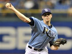 Tampa Bay Rays starting pitcher Jeremy Hellickson allowed only three hits in seven innings in Sunday's 7-0 victory over the Cleveland Indians.