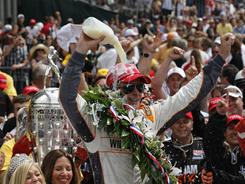 Just shy of four percent of U.S. households saw Dan Wheldon win the Indianapolis 500 on Sunday. That's up 8% from 2010 when it drew its lowest-ever rating.
