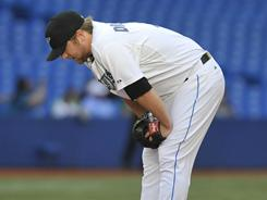 Blue Jays starter Kyle Drabek was knocked out of the game in the first inning, as Cleveland scored four runs. The Indians won 13-9.