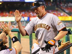 Aubrey Huff had a three home run night, tallying six RBI on four hits, as the Giants beat the Cardinals 12-7 to cap off a seven-game road trip.