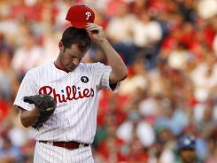 Phillies starter Roy Oswalt fell to 3-4 after a 6-2 loss to the Dodgers. He hasn't won a start since late April.