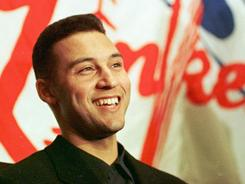 Yankees shortstop Derek Jeter won the American League Rookie of the Year award in 1996.