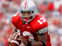Ohio State tailback Maurice Clarett, shown in this Sept. 14, 2002 photo, said he blames athletes and not the coaches for the culture that created problems in the Buckeyes' football program.
