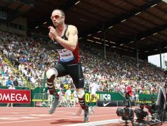 Oscar Pistorius of South Africa will run the 400 at the adidas Grand Prix in New York on Saturday.