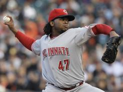 Johnny Cueto snapped a four-start winless streak with seven shutout inning against the Giants.