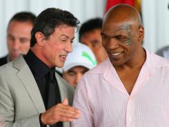 Sylvester Stallone and Mike Tyson speak before Sunday'sl Boxing Hall of Fame Inductions.