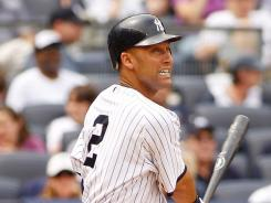 Derek Jeter gets hit No. 2,992 and 2,993 against the Indians.