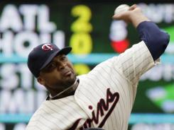Twins starting pitcher Francisco Liriano allowed just two hits in eight innings.