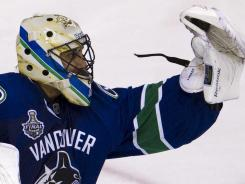 Canucks goalie Roberto Luongo had a 31-save shutout in Game 5 Friday.
