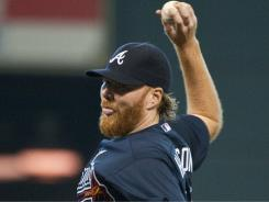 Braves' Tommy Hanson strikes out 14 batters against the Astros.